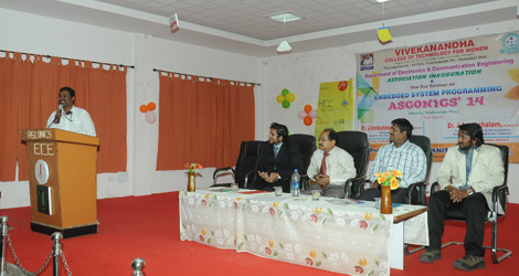 Association Inaugural function 2014 & One day Seminar on Embedded System Programming